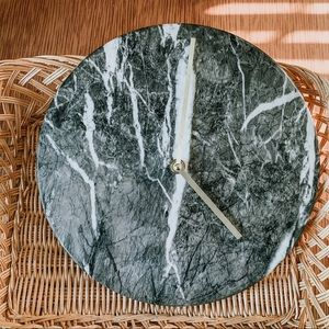 Gray & White Marble Wall Clock